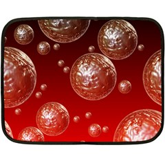 Background Red Blow Balls Deco Double Sided Fleece Blanket (Mini)