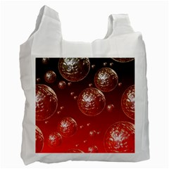 Background Red Blow Balls Deco Recycle Bag (One Side)