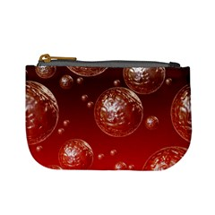 Background Red Blow Balls Deco Mini Coin Purses