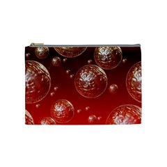 Background Red Blow Balls Deco Cosmetic Bag (Medium)