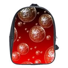 Background Red Blow Balls Deco School Bags(Large)