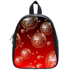 Background Red Blow Balls Deco School Bags (Small)