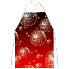 Background Red Blow Balls Deco Full Print Aprons