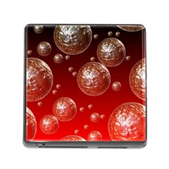 Background Red Blow Balls Deco Memory Card Reader (square)