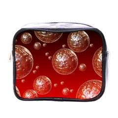 Background Red Blow Balls Deco Mini Toiletries Bags