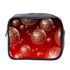 Background Red Blow Balls Deco Mini Toiletries Bag 2-Side