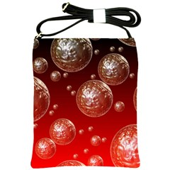 Background Red Blow Balls Deco Shoulder Sling Bags