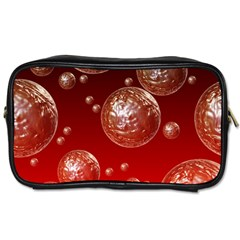 Background Red Blow Balls Deco Toiletries Bags 2-Side