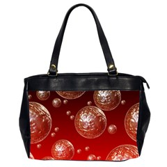 Background Red Blow Balls Deco Office Handbags (2 Sides)