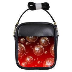 Background Red Blow Balls Deco Girls Sling Bags