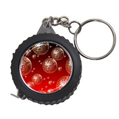 Background Red Blow Balls Deco Measuring Tapes
