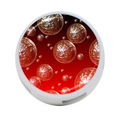 Background Red Blow Balls Deco 4-Port USB Hub (One Side)