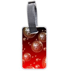 Background Red Blow Balls Deco Luggage Tags (One Side)