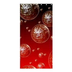 Background Red Blow Balls Deco Shower Curtain 36  x 72  (Stall)