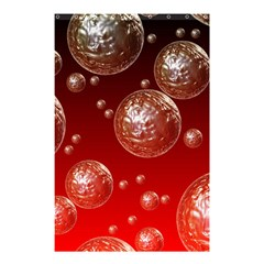 Background Red Blow Balls Deco Shower Curtain 48  x 72  (Small)