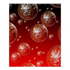 Background Red Blow Balls Deco Shower Curtain 60  x 72  (Medium)