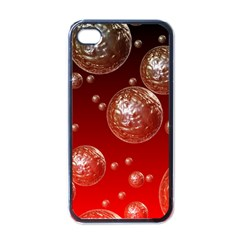 Background Red Blow Balls Deco Apple iPhone 4 Case (Black)
