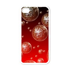 Background Red Blow Balls Deco Apple iPhone 4 Case (White)