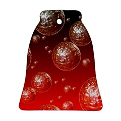 Background Red Blow Balls Deco Ornament (Bell)