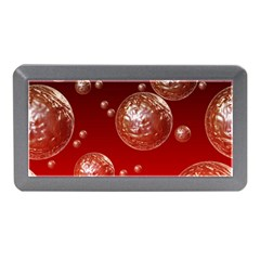 Background Red Blow Balls Deco Memory Card Reader (Mini)