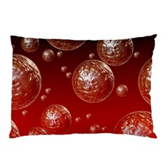 Background Red Blow Balls Deco Pillow Case (Two Sides)