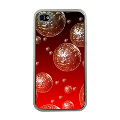 Background Red Blow Balls Deco Apple iPhone 4 Case (Clear)