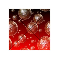 Background Red Blow Balls Deco Acrylic Tangram Puzzle (4  X 4 )