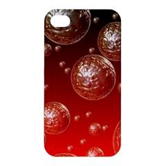 Background Red Blow Balls Deco Apple iPhone 4/4S Premium Hardshell Case