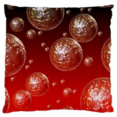 Background Red Blow Balls Deco Large Cushion Case (Two Sides)