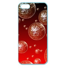 Background Red Blow Balls Deco Apple Seamless iPhone 5 Case (Color)