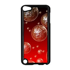 Background Red Blow Balls Deco Apple Ipod Touch 5 Case (black)