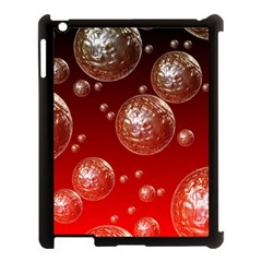 Background Red Blow Balls Deco Apple iPad 3/4 Case (Black)