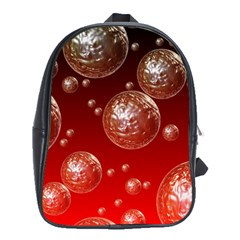 Background Red Blow Balls Deco School Bags (XL)