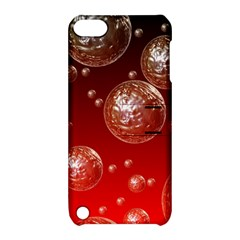 Background Red Blow Balls Deco Apple iPod Touch 5 Hardshell Case with Stand