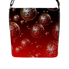 Background Red Blow Balls Deco Flap Messenger Bag (L)