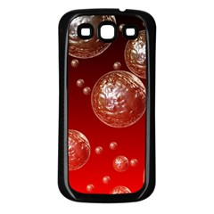 Background Red Blow Balls Deco Samsung Galaxy S3 Back Case (black)