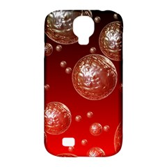 Background Red Blow Balls Deco Samsung Galaxy S4 Classic Hardshell Case (PC+Silicone)