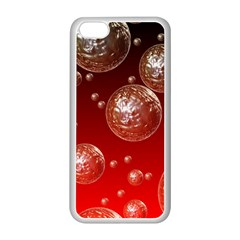 Background Red Blow Balls Deco Apple iPhone 5C Seamless Case (White)