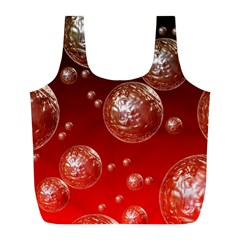 Background Red Blow Balls Deco Full Print Recycle Bags (L)