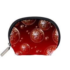 Background Red Blow Balls Deco Accessory Pouches (Small)