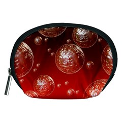 Background Red Blow Balls Deco Accessory Pouches (medium)