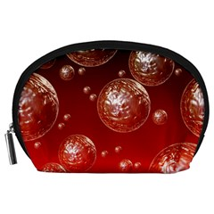 Background Red Blow Balls Deco Accessory Pouches (Large)