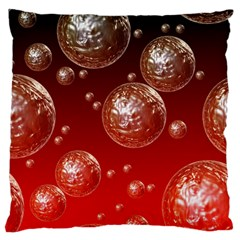 Background Red Blow Balls Deco Standard Flano Cushion Case (two Sides)