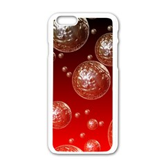 Background Red Blow Balls Deco Apple iPhone 6/6S White Enamel Case