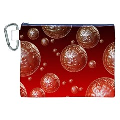 Background Red Blow Balls Deco Canvas Cosmetic Bag (XXL)