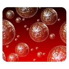 Background Red Blow Balls Deco Double Sided Flano Blanket (Small)