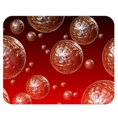 Background Red Blow Balls Deco Double Sided Flano Blanket (Medium)