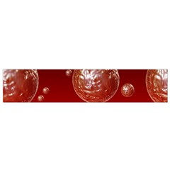 Background Red Blow Balls Deco Flano Scarf (Small)