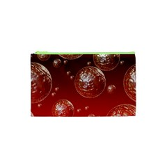 Background Red Blow Balls Deco Cosmetic Bag (XS)