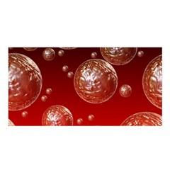 Background Red Blow Balls Deco Satin Shawl